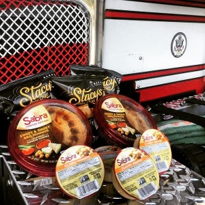 Sabra Hummus and Stacy pita chips donated a delicious basket of goodies to one of our for stations.  Thank you!  @sabra
